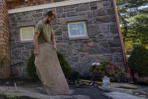 Custom Stone veneer and Garden